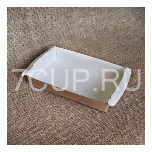 Лоток терелочка из картона для бельгийских вафель